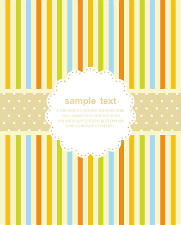 Template frame design for greeting card Stock Vector - 7213453