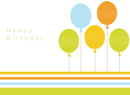 happy holidays text: balloon birthday card design