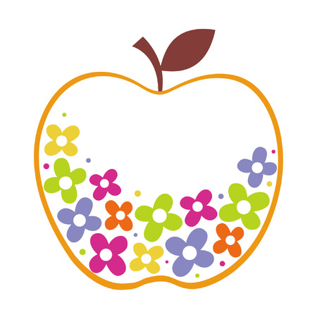 shapes cartoon: dise�o de manzana  Vectores