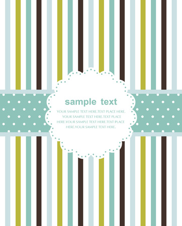 Template frame design for greeting card  Stock Vector - 7351993