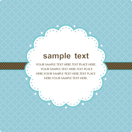 Template frame design for greeting card Stock Vector - 7473265