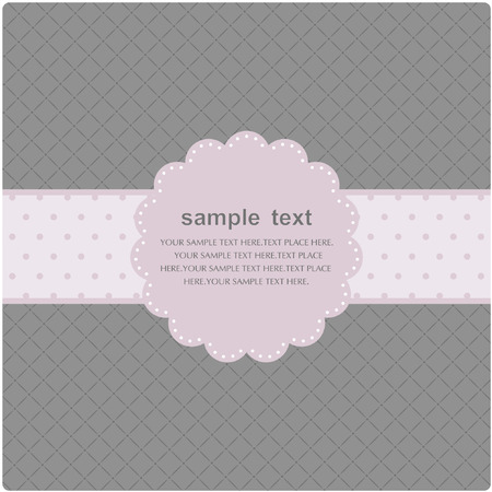 Template frame design for greeting card Stock Vector - 7443850