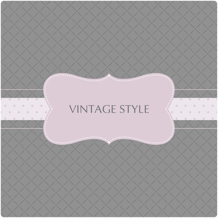 Template frame design for greeting card Stock Vector - 7424456