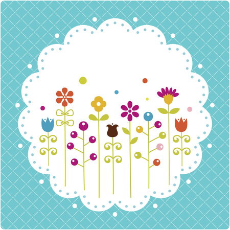 Floral card , vector illustration  Vector
