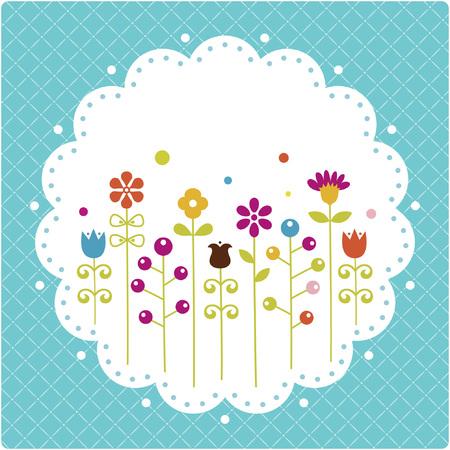 dotted: Floral card , vector illustration