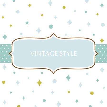 Template frame design for greeting card Stock Vector - 7443851