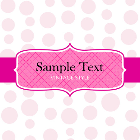 pink backgrounds: Template frame design for greeting card