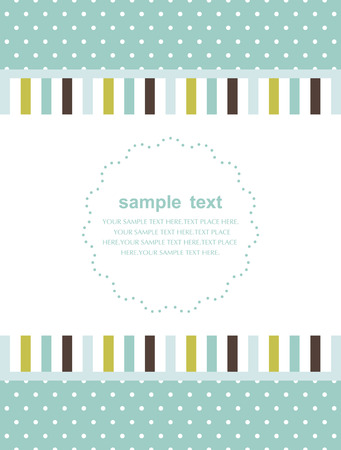 Template frame design for greeting card Stock Vector - 7473266