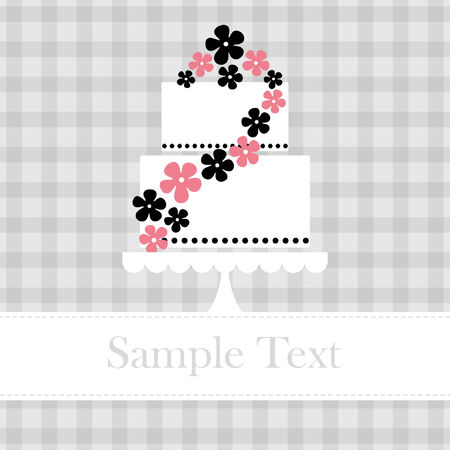 cake birthday: Template frame design for greeting card