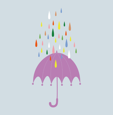 backplane:  drop and umbrella background card  Illustration