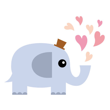Elephant in love  Stock Vector - 7661611