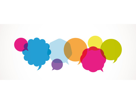 Dialog clouds. vector illustration Stock Vector - 7650431