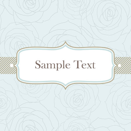 greeting card invitation wallpaper: Template frame design for greeting card