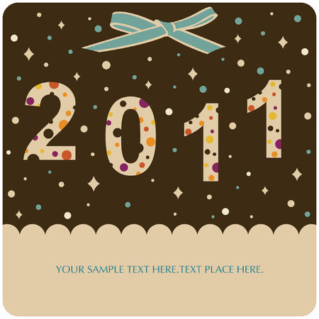 new year 2011 background  Vector