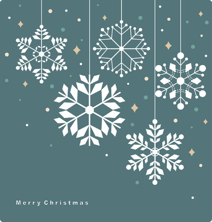 set of snowflakes background  Stock Vector - 7594487