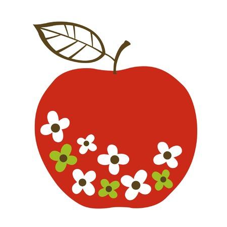 사과 디자인 일러스트