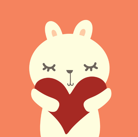 vectorrn: Cute  pig with love  Illustration