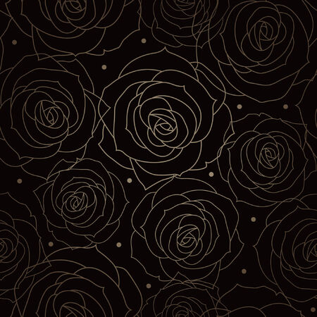 Beautiful floral seamless background  Illustration