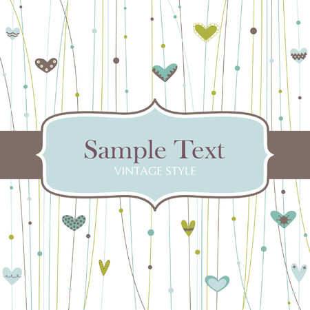 rnart: Template frame design for greeting card