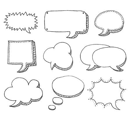 illustration. Bubbles for speech Stock Vector - 7784197