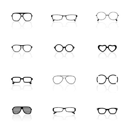 specs: Icon Set, Sunglasses  Illustration