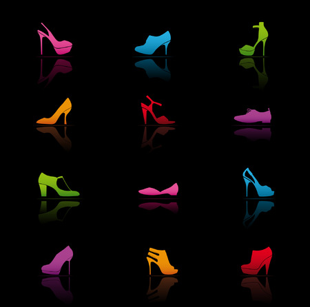 Icon Set, Shoes Vector