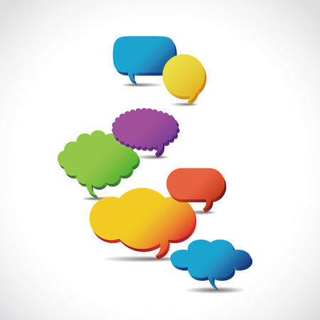 arrow button: Dialog clouds. illustration