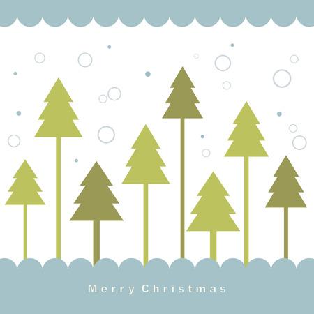 flack:   tree of christmas card  Illustration