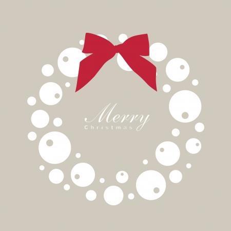 Christmas wreath card template  Vector