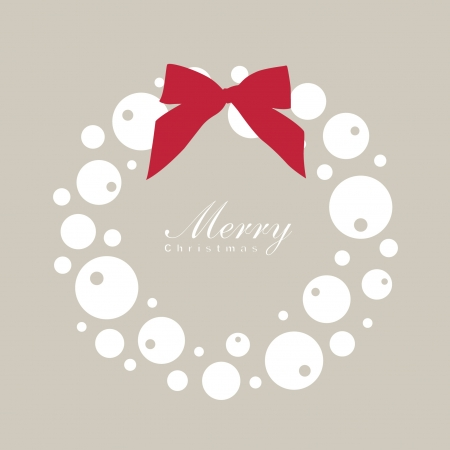 rnart: Christmas wreath card template