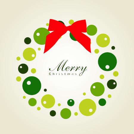 yearrn: Christmas wreath card template