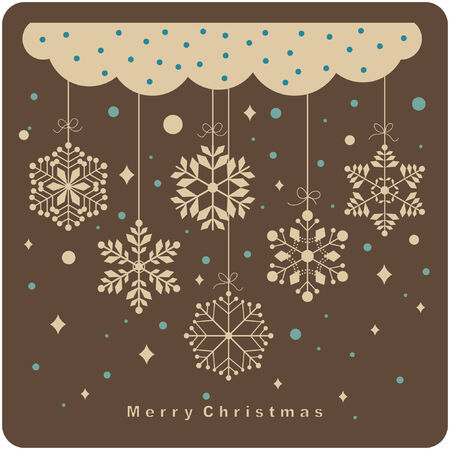 seasonal symbol:   set of snowflakes background