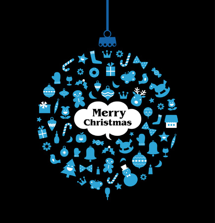 yearrn:   Christmas ball(hanging)  Illustration