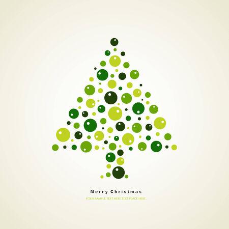 tree of christmas card  Stock Vector - 7936755