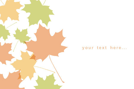 autumnal maple leaf background Stock Vector - 7936762
