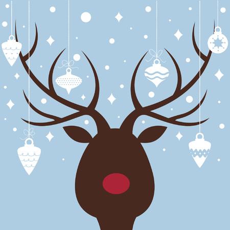 elk of christmas card  Vector