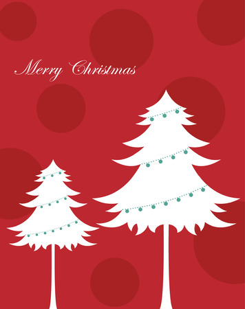 tree of christmas background design  Vector
