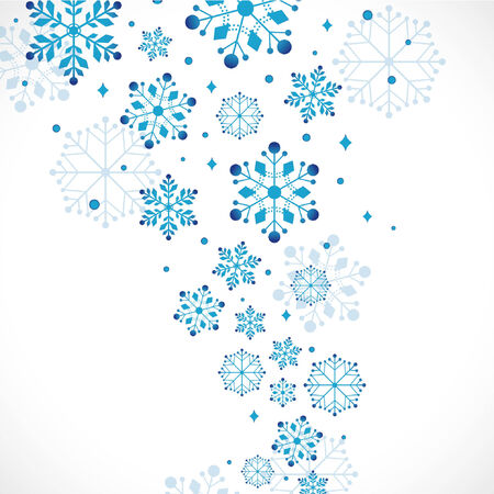 snowflake border: snow background, vector illustration