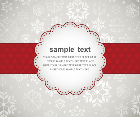 congratulation card: Template frame design for xmas card