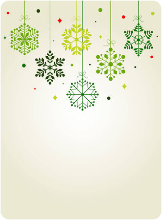 set of snowflakes background  Vector