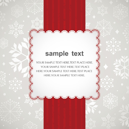Template frame design for xmas card  Vector