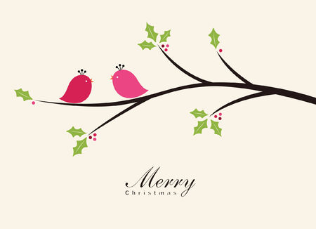holly leaves: Birds in the Winter