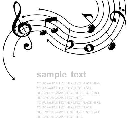 notas musicales: Tema de la m�sica