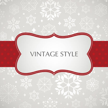 holiday celebrations: Template frame design for xmas card