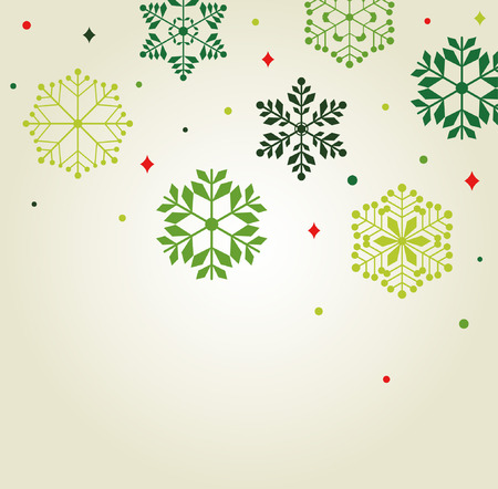 Vector set of snowflakes background Stock Vector - 8269129
