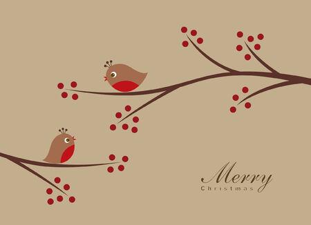 Birds in the Winter  Vector