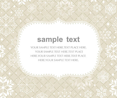 Template frame design for xmas card