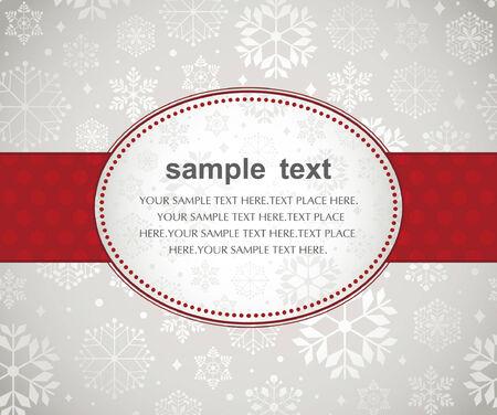Template frame design for xmas card