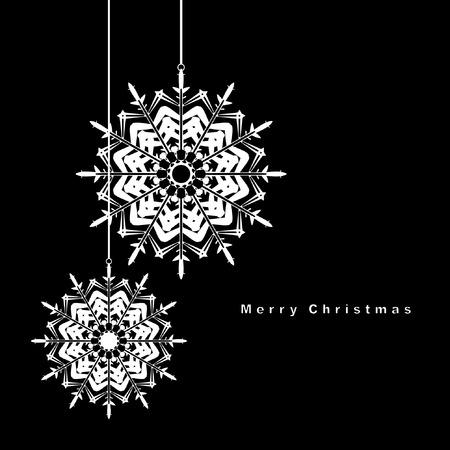 Black and White Christmas ball illustration.  Stock Vector - 8433372