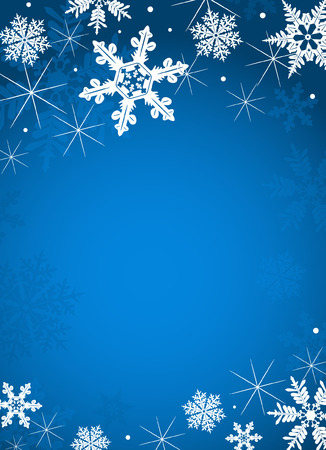 abstract Christmas background with snowflakes Stock Vector - 8433369